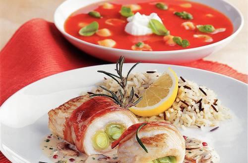 Knorr - Frühlings-Schollenröllchen am Rosmarin Spieß