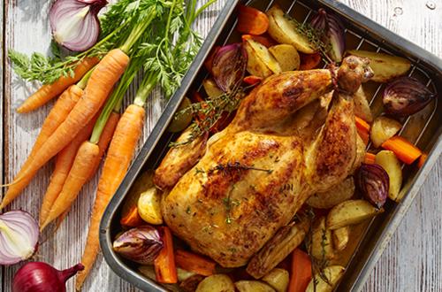 Κοτόπουλο στο φούρνο με λαχανικά