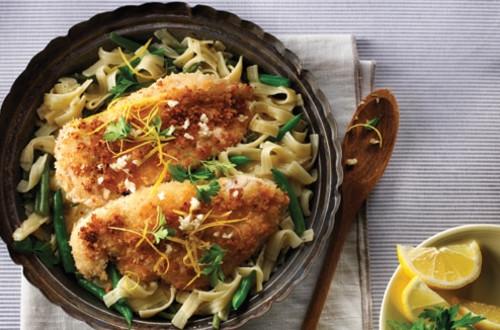 Pâtes avec poulet  à la gremolata