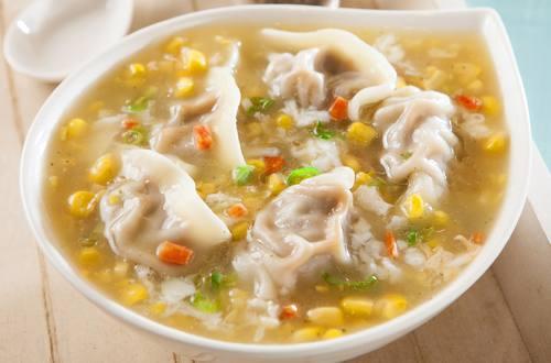 火腿玉米濃湯湯餃