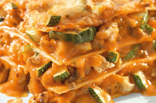 Lasagne aux noix et aux courgettes