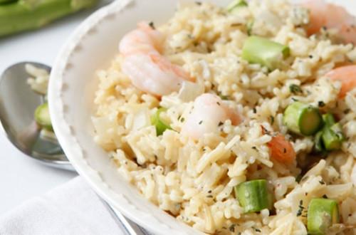 Creamy Shrimp Asparagus 'Risotto'