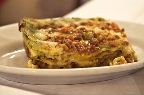 Knorr - Schwammerl-Lasagne mit Speck und Lauch