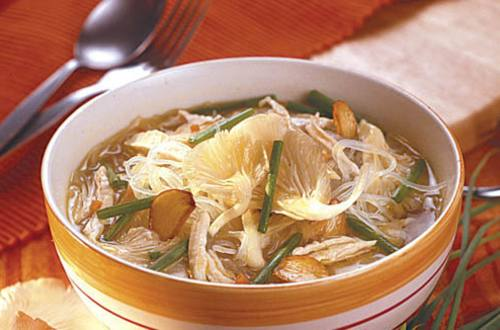 Chicken and Mushroom Soup with Sotanghon Recipe