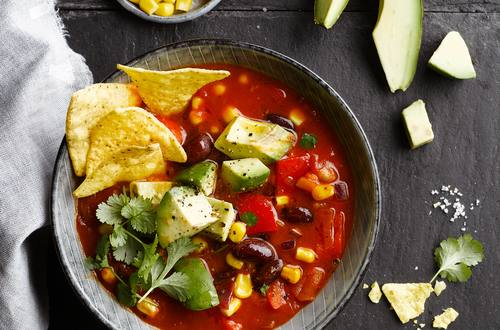 Mexican Veggie & Tortilla Soup
