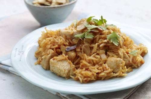 Delicioso pilaf de pollo