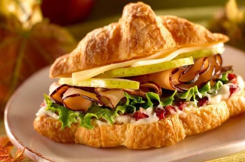 Petite Turkey, Pear & Provolone Croissants