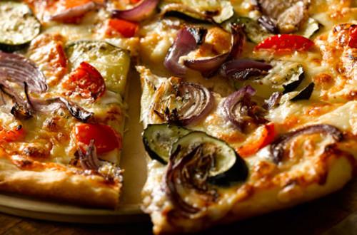 Roasted Vegetable Béchamel Pizza