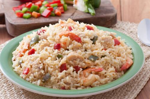 Creamy Rice with Chicken and Shrimp Recipe