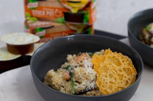 Wild Mushroom Risotto & Crisp Parmesan