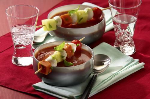 Knorr - Scharfe Tomatensuppe mit Melone
