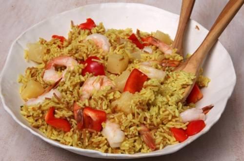 Island-Style Shrimp & Rice