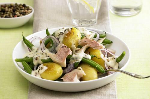 Kartoffel-Bohnen-Salat Ausschnitt