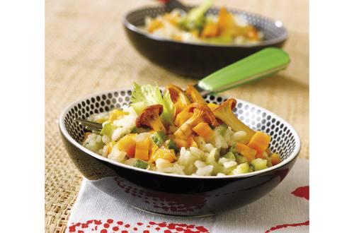 Risotto met kip, groenten en champignons