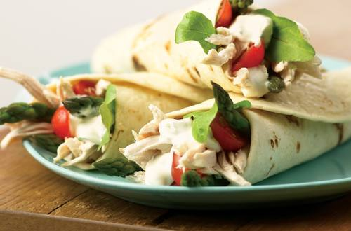 Chicken & Asparagus Wraps