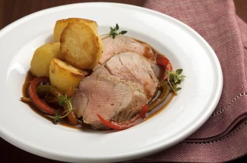 Knorr - Schweinslungenbraten mit Paprika und Knoblauch