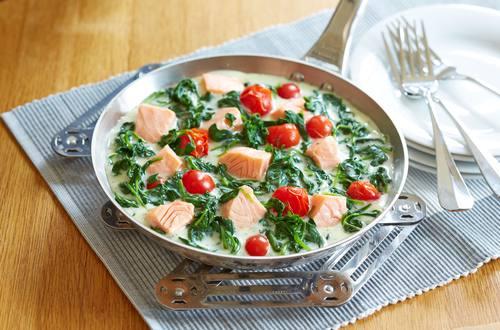 Knorr - Lachs-Spinat-Pfanne