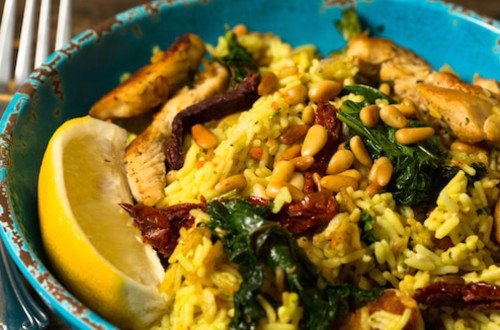 Tuscan Chicken Skillet with Kale & Sun-Dried Tomatoes