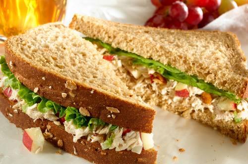 Tuna Waldorf Salad Sandwiches