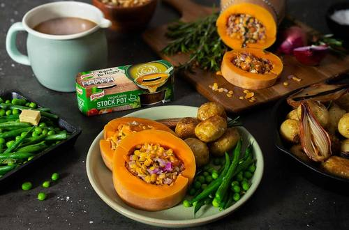 Easter Stuffed Butternut Squash with a Knorr Vegetable Stock Pot