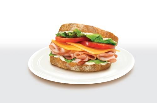 Honey Maple Ham & Cheddar Sandwich