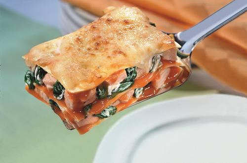 Knorr - Lasagne mit Lachs und Blattspinat