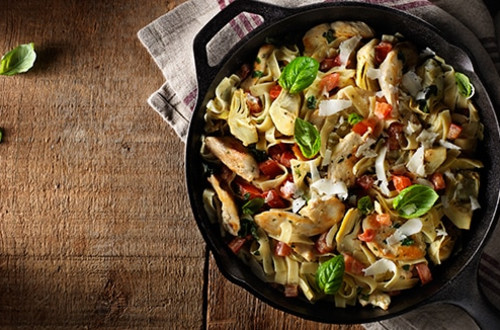 Artichoke Asiago Chicken & Pasta