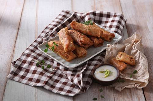 Pork Spring Roll with Spicy Coconut Sauce Recipe