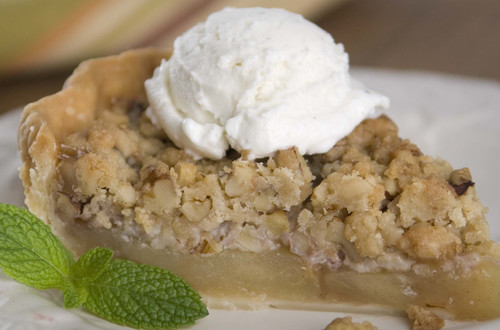 Apple-Walnut Crumb Pie