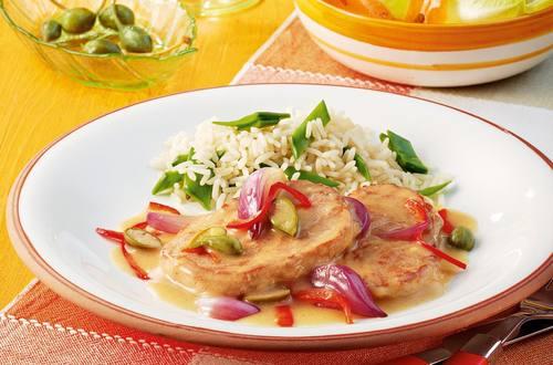 Knorr - Schweinsschnitzel nach La Mancha-Art mit Kapern