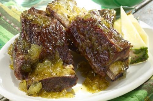 Spicy Poblano & Pineapple Glazed Short Ribs