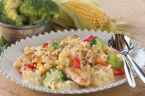 Creamy Chicken Recipe with Broccoli, Capsicum & Corn