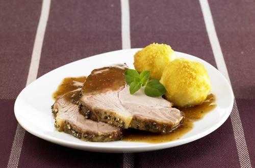 Knorr - Schweinebraten mit Honig-Pfeffer-Kruste