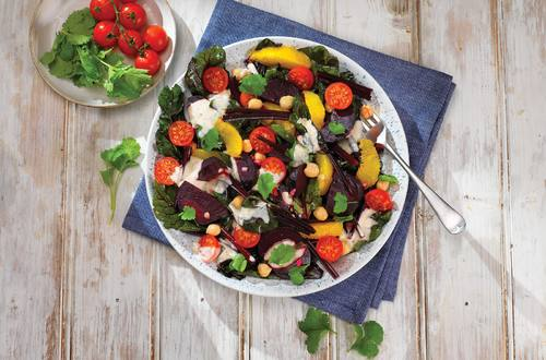 Creamy Beetroot Salad with Chickpeas