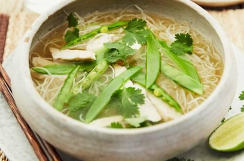 Chicken pho noodle soup