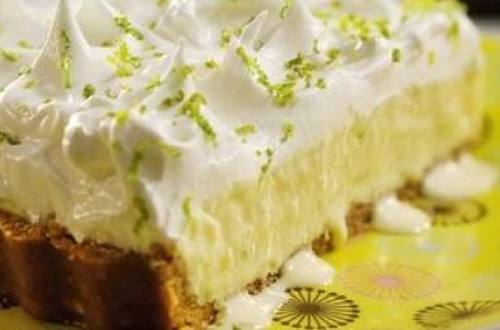 Torta de limão e sorvete