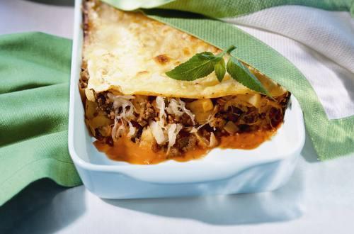 Lasagne mit Sauerkraut