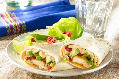 Hellmann's - Wraps au poulet et à la sauce barbecue