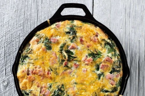 Hearty Spinach & Ham Frittata