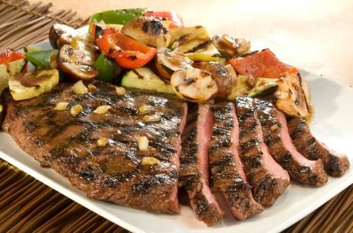Steak Teriyaki Grillé et Légumes