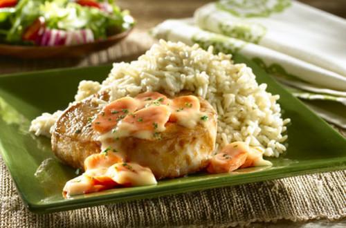 Honey Mustard Pork Chops & Rice