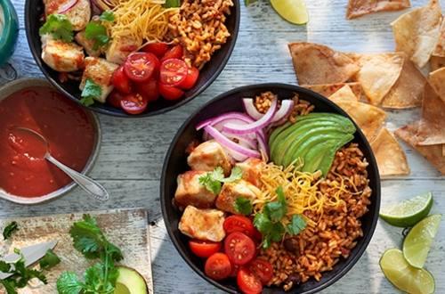 Cilantro Lime Chicken Enchilada Bowls