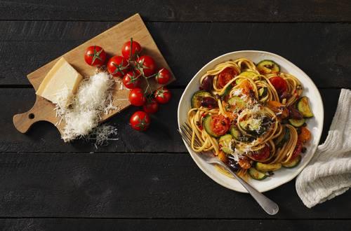Vegetarian Puttanesca Linguine