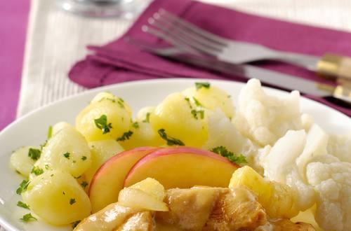 Kipfilet met mosterd-appelsaus