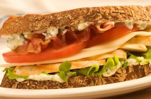 NASCAR Chicken & Basil Sandwiches