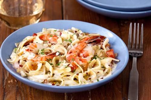 Shrimp Fra Diavolo Alfredo