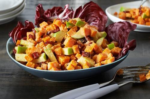 Salade de patates douces rôties