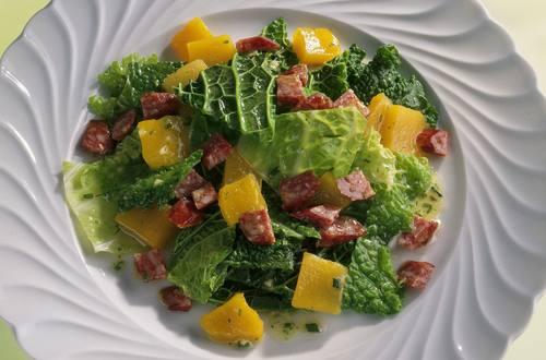 Knorr - Wirsingsalat mit Landjäger