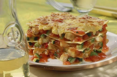 Huehner-Gemuese-Lasagne