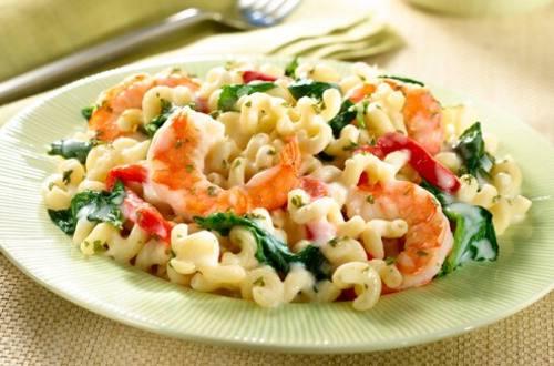 Fusilli with Shrimp & Spinach